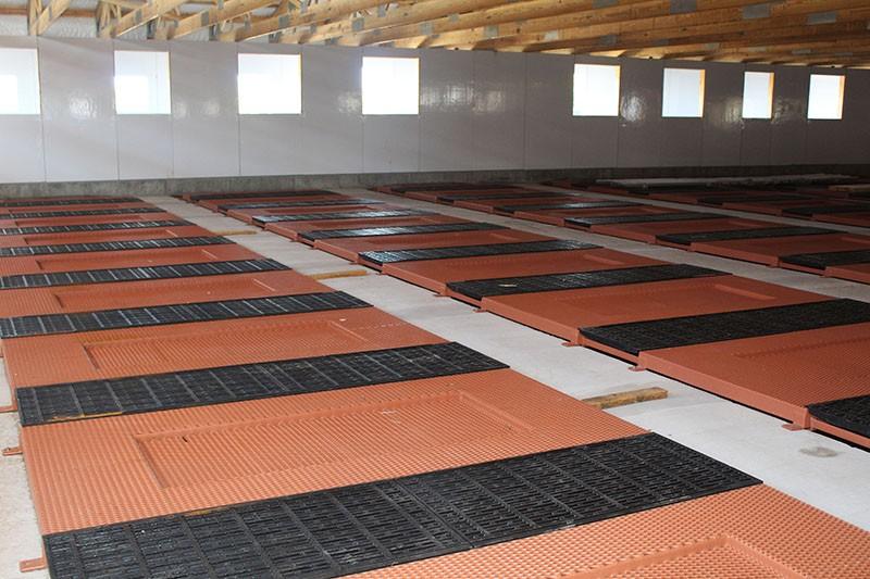 floor construction for farrowing floors